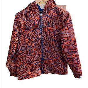 HP!Under Armour full zip orange & blue YLG hoodie.